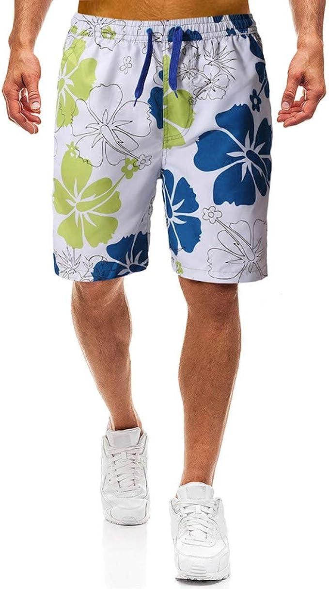 SHJIRsei Pantal/ónes Cortos para Hombres Deporte Secado R/ápido de Transpirable El/ástica Pantal/ónes Secado r/ápido Surf de Playa Correr Pantal/ónes Pantalones Cortos de Nataci/ón