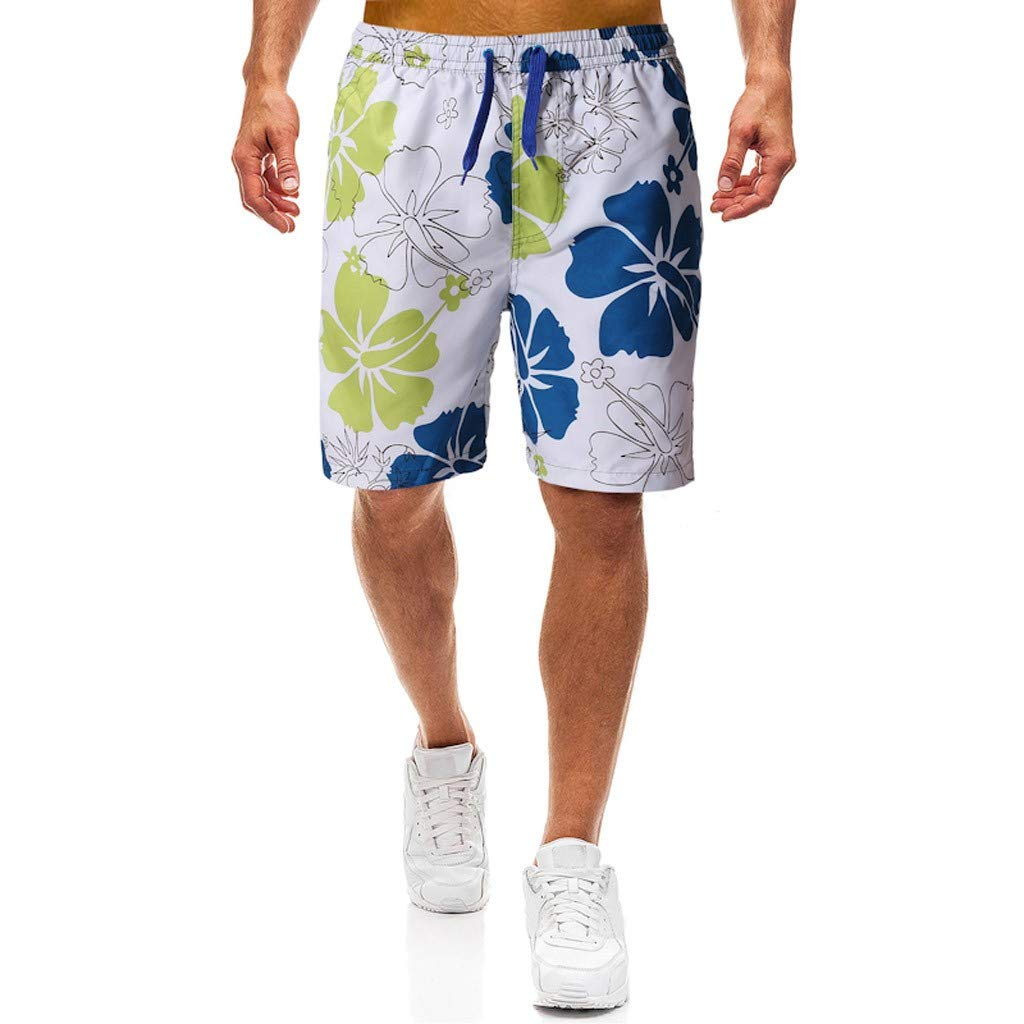 LEERYAAY Cargo/&Chinos Men Summer Camouflage Print Trunks Quick Dry Beach Surfing Running Short Pant