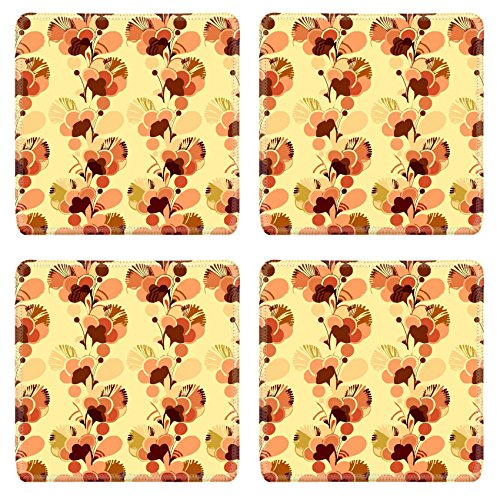 MSD Natural Rubber Square Coasters IMAGE ID: 3495641 Sixties psychedelic wallpaper background with swinging London style (60s Background)
