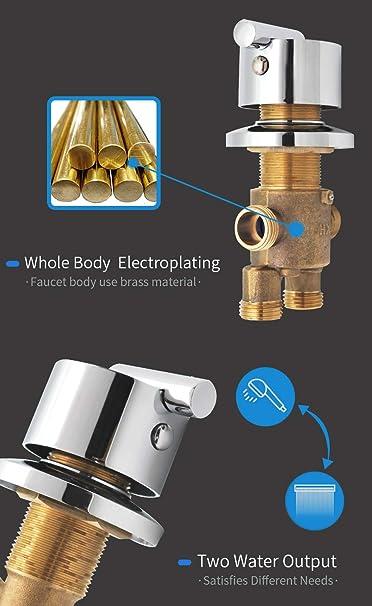 Mitigeur de salle de douche personnalis/é 2//3//4//5 vitesses robinet mitigeur eau froide et chaude