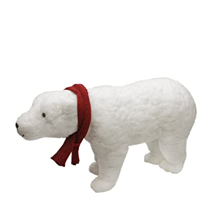 northlight walking plush white polar bear christmas decoration 25