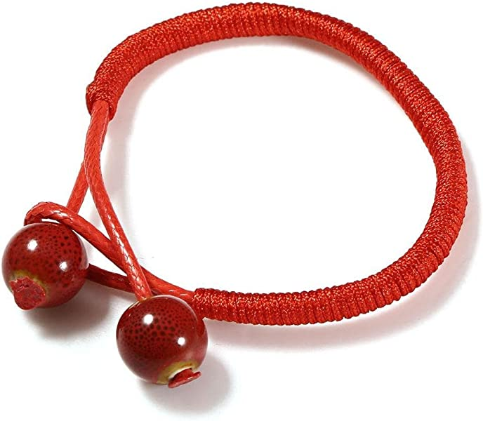 08d6937ea2a2e Amazon.com  MYEDO Women Lucky Ceramic Red String Ceramic Bracelet ...