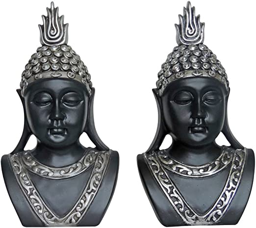 Turtle King Set of 2 Standing Silver Antiqued Camel Figurine 2 Piece