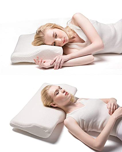 Surpass Oct Cervical Contour Bed Pillow For Neck Pain And Side Sleeper Queen Size Memory Foam Sleeping Pillow For Back And Shoulders With Washable