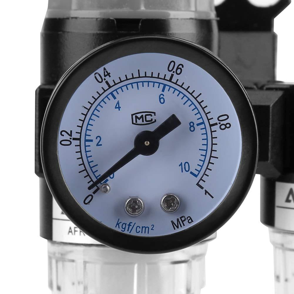 1//4  R/égulateur de Filtre /à air Lubrificateur S/éparateur dhuile avec pi/ège /à humidit/é du compresseur S/éparateur dhuile Filtre de compresseur OKBY S/éparateur Huile-Eau