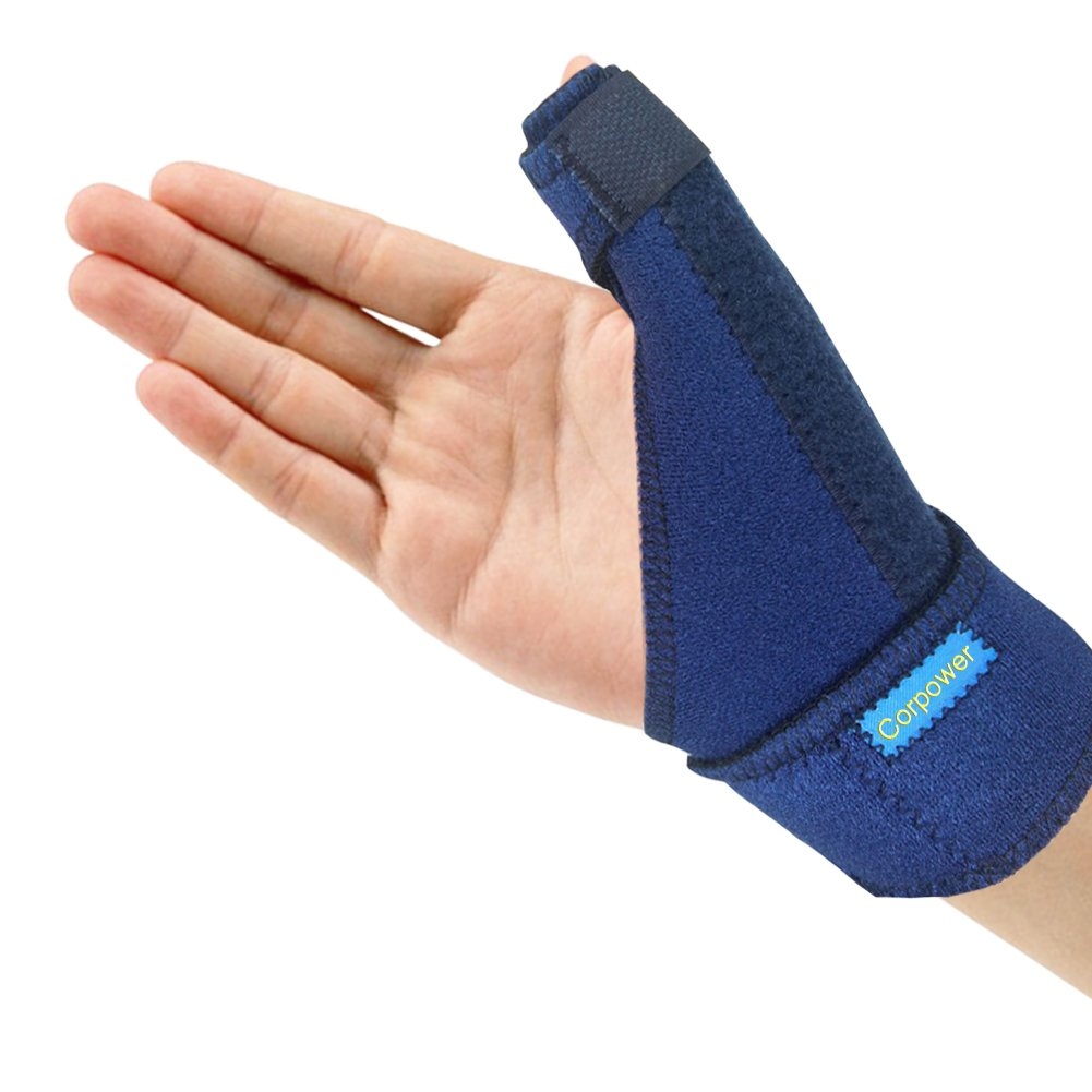 Trigger Thumb Brace - Corpower Thumb Spica Splint - Thumb Spica Stabilizer for Pain, Sprains, Arthritis,Tendonitis (Right Hand Or Left Hand)