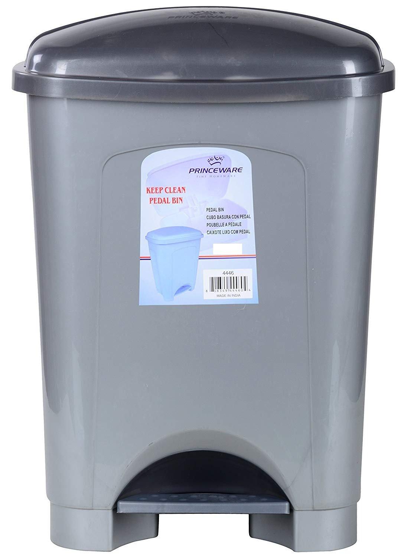 Princeware Big Size Plastic Pedal Garbage Dustbin 40 LTR (Grey ...