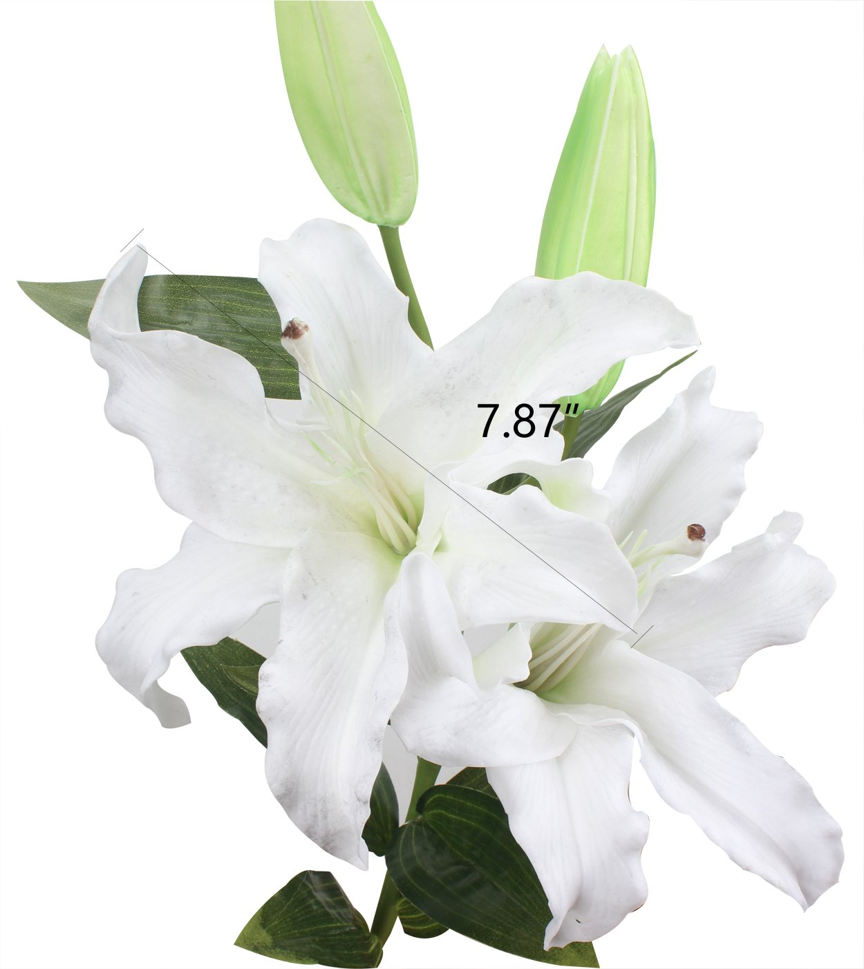 Amazon Duovlo 34 Artificial White Lilies Bouquets Real Touch