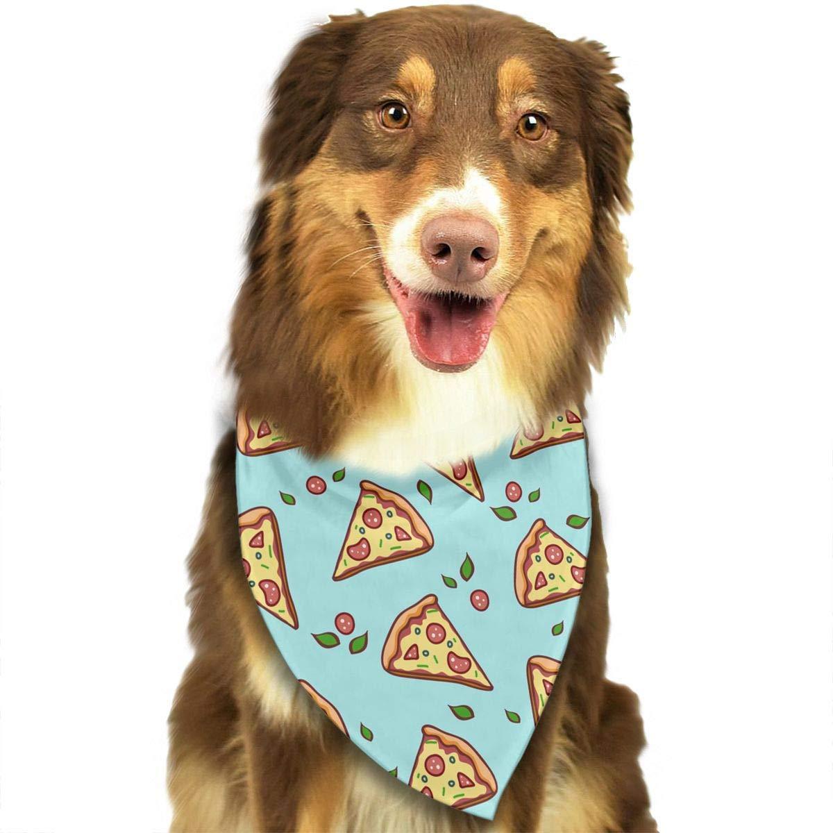 Accessorio per Cani e Gatti Motivo Triangolare Lavabile Sciarpa a Forma di Pizza iuitt7rtree