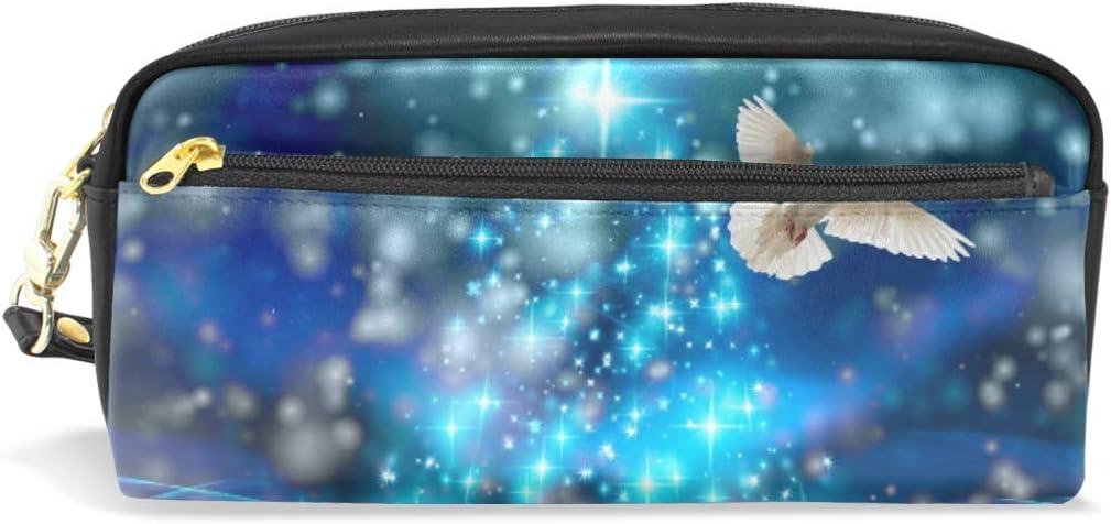 Estuche para lápices de Navidad, diseño de pájaro paloma con compartimentos y cremallera para niños y niñas: Amazon.es: Oficina y papelería