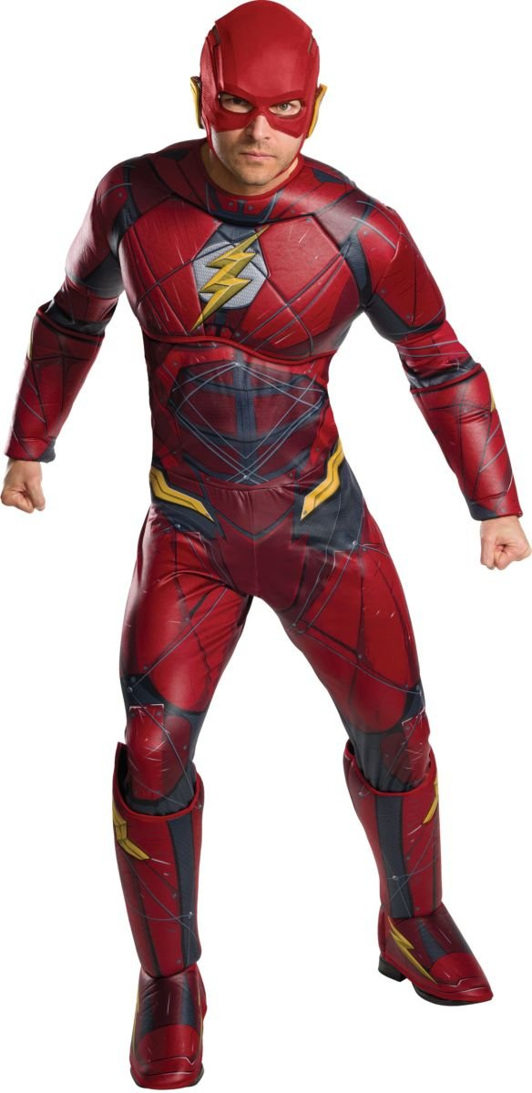 DC - Justice League Movie Disfraz Flash Deluxe Adultos, Talla única (Rubies Spain 820661): Amazon.es: Juguetes y juegos