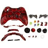 Caso de Sustitución Botón de Cáscara Kit para Xbox 360 Controlador Cráneo Rojo