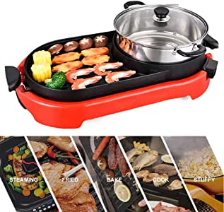 Amazon.com: QAZWSX Electric Griddles, Electric BBQ Grill
