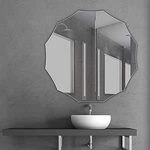 Polygon Bathroom Mirror, Unframed, Frameless Bathroom ...