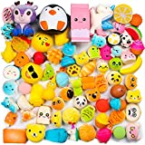 WATINC Random 50 Pcs Squishy Toy Cream Scented Slow Rising Kawaii Simulation Lovely Toy Jumbo Medium Mini Soft Stress Relief Foam Toy, Phone Straps (WT-Squishy 50Pcs)