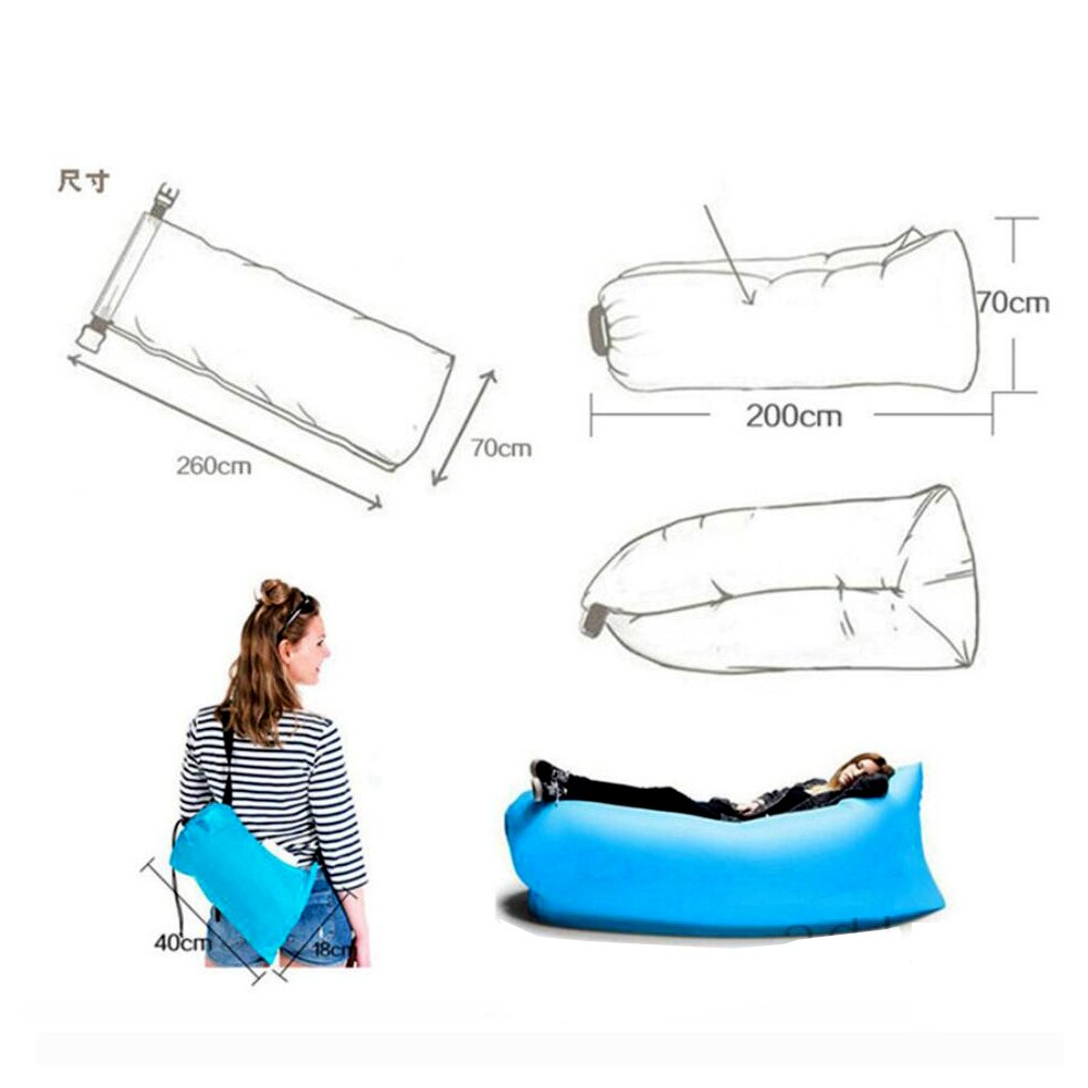 Sleeping Bags West Biking Fast Inflatable Camping Sofa Banana Sleeping Bag Hangout Nylon Lazy Laybag Air Bed Chair Couch Lounger Sleeping Bag
