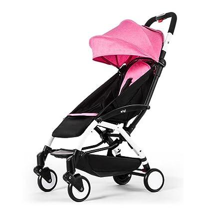 YXINY Carritos y sillas de Paseo Cochecitos Ultraligero Portátil Plegado Simple Bebé Puede Sentarse Puede Ser