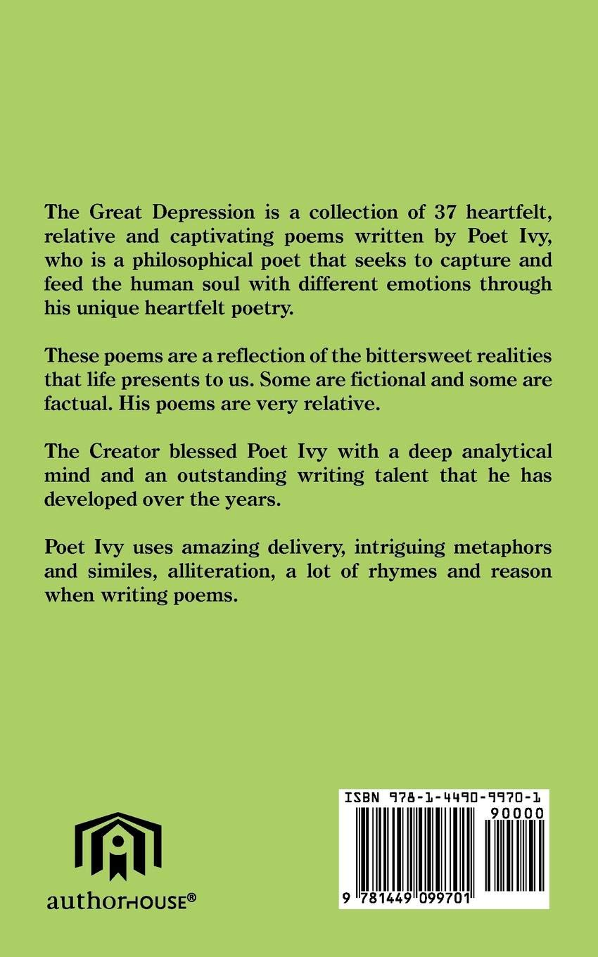 The Great Depression: A collection of poems: Poet Ivy