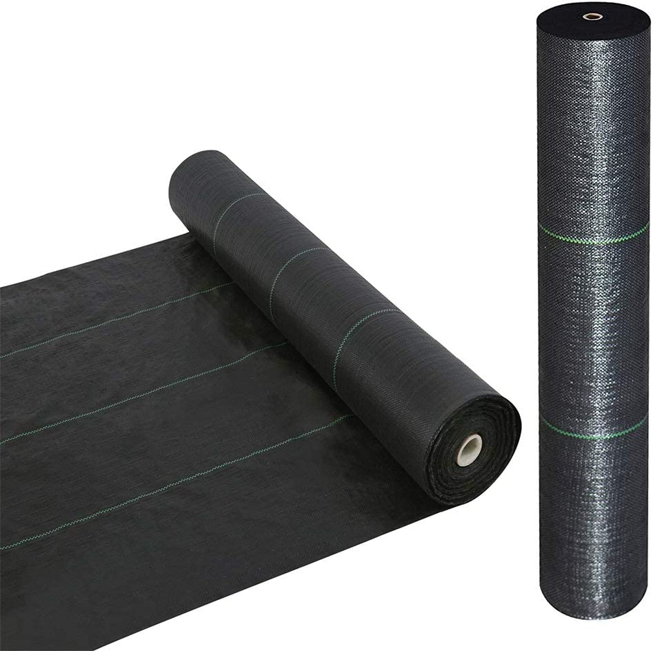 · Petgrow · Heavy Duty Weed Barrier Landscape Fabric for Outdoor Gardens, Non Woven Weed Blockr Fabric - Garden Landscaping Fabric Roll - Weed Control Fabric in Rolls(5FTX300FT)