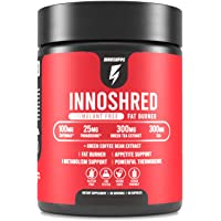 Inno Shred - Day Time Burner | Stimulant Free | 100mg Capsimax, Grains of Paradise, Green Tea Extract (60 Veggie…
