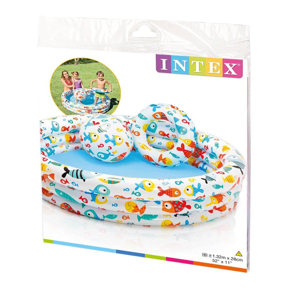Intex 59469NP - Piscina, flotador y pelota de 51 cm, 132 x 28 cm, 248 litros: Amazon.es: Juguetes y juegos