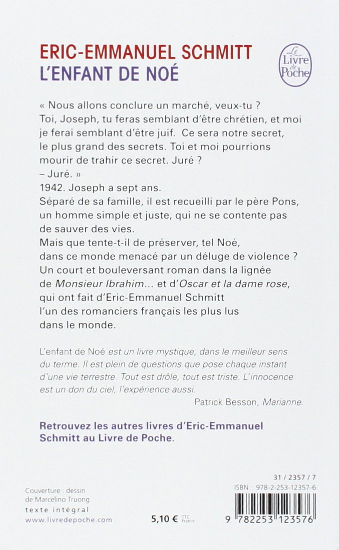 Favori L'Enfant De Noe (Ldp Litterature) (French Edition): Eric-Emmanuel  IP83