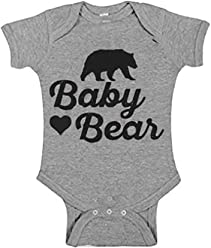 ae193ca3ad Baby Bear Onesie for Newborns to 24 Months That Matches The Family Bear  Clothes Gray
