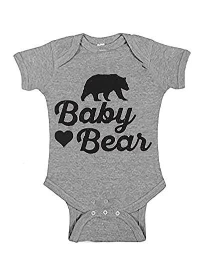 075939ddb Amazon.com: Baby Bear Onesie for Newborns to 24 Months That Matches ...