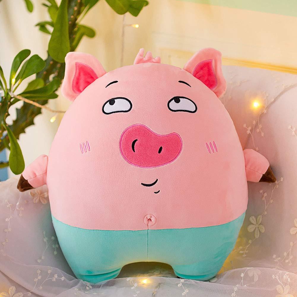 GJC Down Cotton Pig Hug Pillow Plush Toy Cartoon Cute schwarz Cat Doll Sleeping Pillow Gift,RosaA,65CM Rosab 40CM
