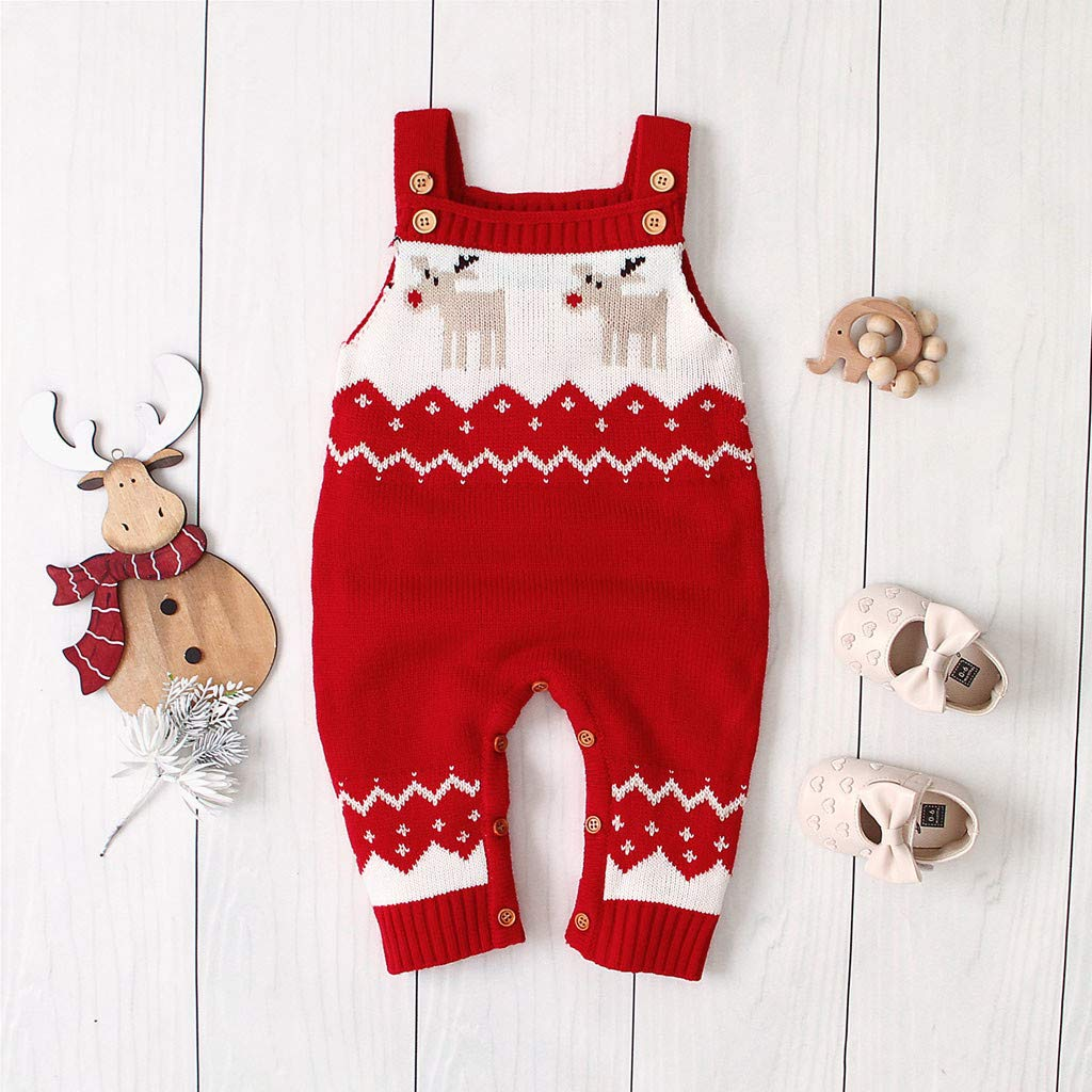 Ropa de Bebe Ni/ña Recien Nacida Mameluco Abrigo de Ni/ño Ni/ña Traje de Nieve Fossen Kids Navidad Mono Bebe Ni/ño Invierno Tirantes