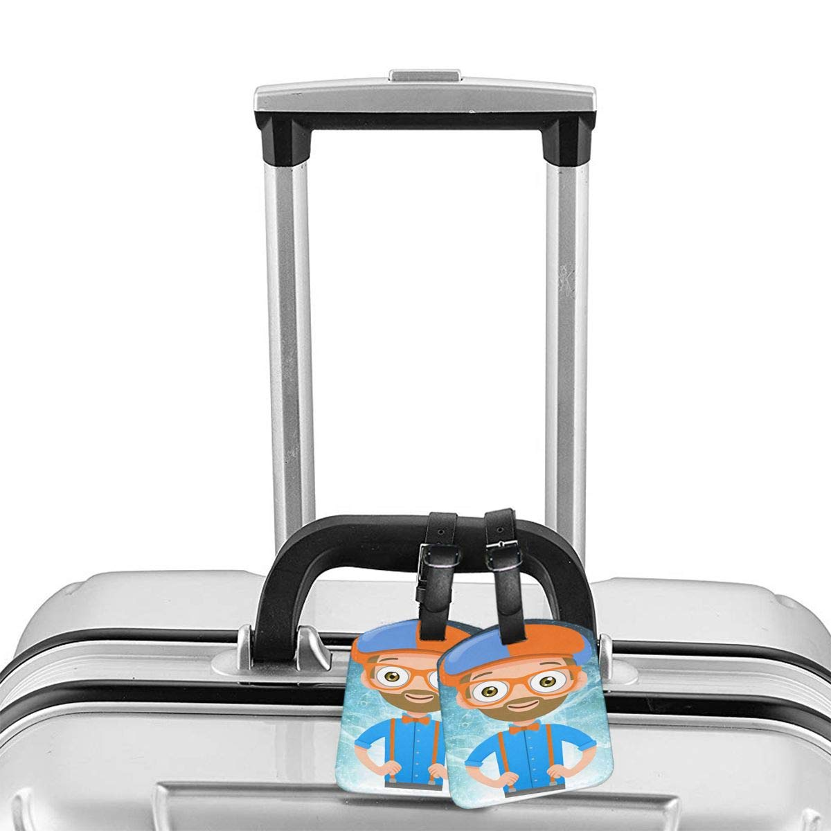 Liuchuan Blippi PU Leather Luggage Tags Suitcase Labels Bag Travel Accessories Set of 2