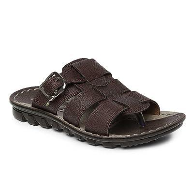 480baea6d PARAGON Vertex Men's Brown Flip-Flops: Buy Online at Low Prices in ...