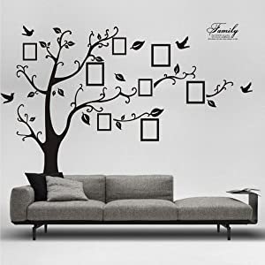 HERRA 98.5 x71 inch Photo Tree Wall Decal Family Photo Picture Frame Tree Wall Sticker, Peel and Stick Removable Family Tree Wall Stickers Wall Mural for Living Room Home décor