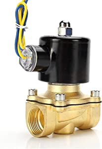 """Beduan Brass Electric Solenoid Valve, 1/2"""" 12V, Normally Colsed Valve for Air Water Gas Fuel Oil"""