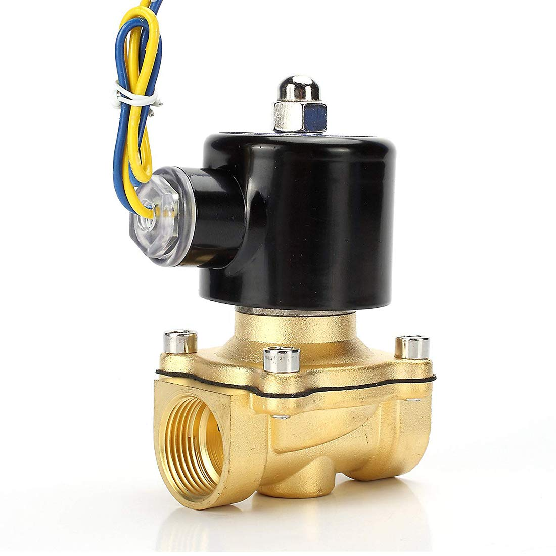 Beduan Brass Electric Solenoid Valve, 1/2'' 12V, Normally Colsed Valve for Air Water Gas Fuel Oil by beduan