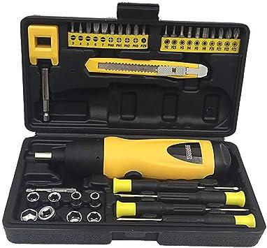 Destornilladores Mini Taladro inalámbrico Herramienta de reparación del hogar Batería seca Juego de combinación de destornillador eléctrico: Amazon.es: Bricolaje y herramientas