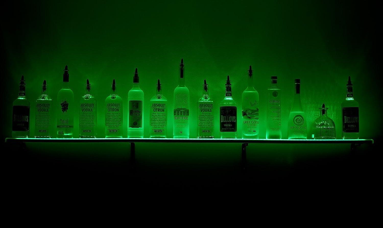 2 led lighted liquor shelves bottle display amazon home 2 led lighted liquor shelves bottle display amazon home kitchen mozeypictures Gallery