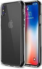 iPhone X Case, Trianium [Clarium Series] iPhone X Clear Case w/Reinforced TPU Bumper Hybrid Cushion +Scratch Resistant/Enhanced Hand Grip/Hard Back Panel Cover for Apple iPhone X/10 Phone 2017