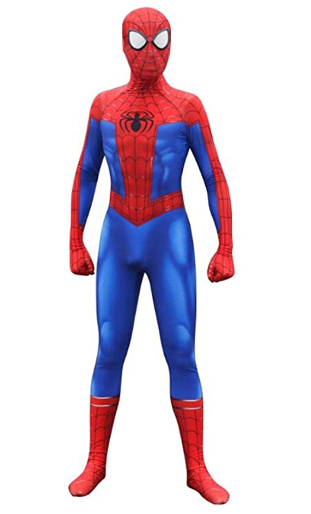 Unisex Spandex Onesie 3D Zentai Suit Costume Cosplay Bodysuit for Audlt/Kids:Homecoming Blue