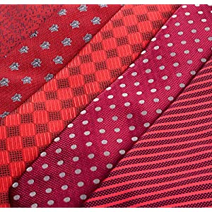 Men's Tie Set - 5 Luxury Neckties And 2 Classy Tie Bars In Gift Box By Pointed Designs (Set 2)
