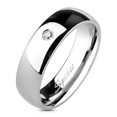 vasta selezione di 90743 4f589 Anello colore argento per Uomo e Donna in Acciaio Inossidabile – Anello  Fede Bambina e Bambino di colore argento con pietra di zircone bianco – ...