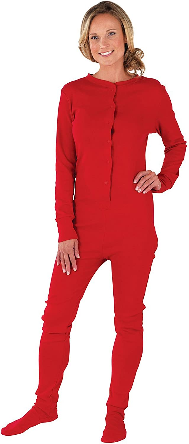 PajamaGram Drop Seat Pajamas Women - Butt Flap Pajamas Womens