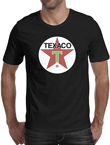 Ujdkfgskcd - Camiseta de Manga Corta para Hombre, diseño de Logotipo de Texaco-Transparente, Cuello en O - - Small: Amazon.es: Ropa y accesorios