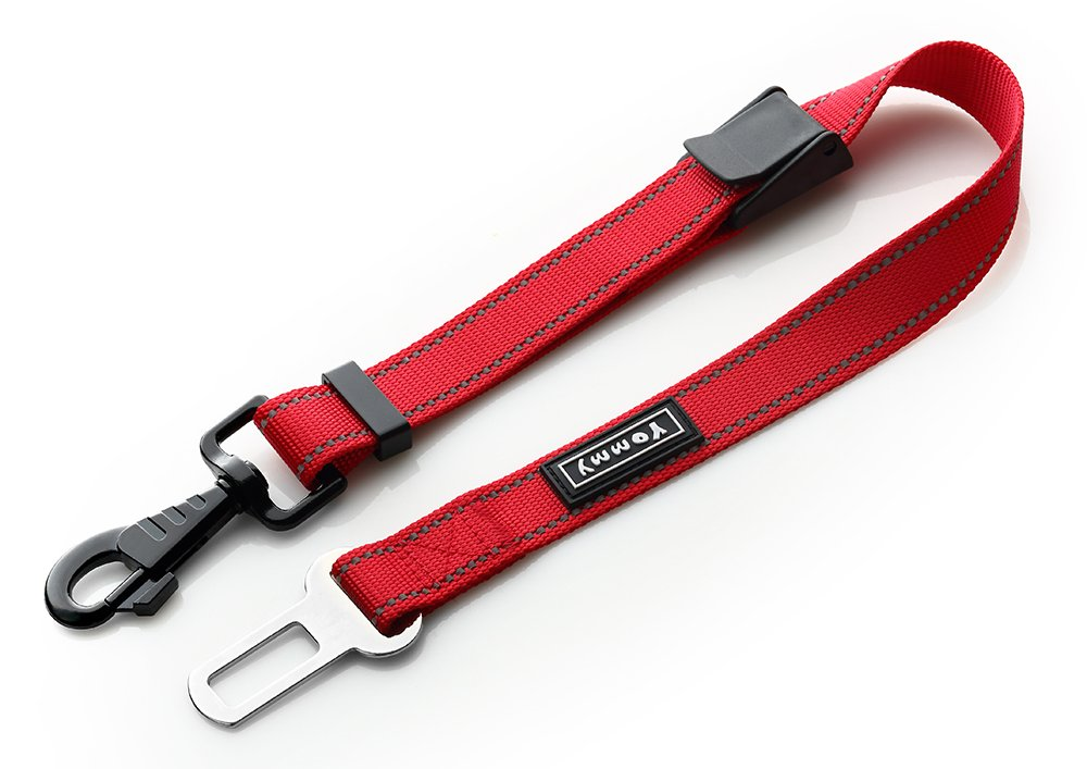 Yommy 2 Piezas Cintur/ón de Seguridad para Perro Nylon Ajustable 40-60cm 2,5cm de Ancho YM2667