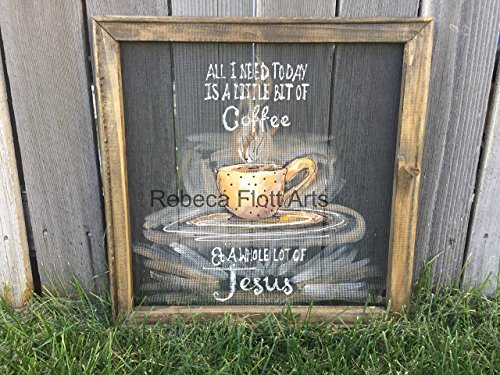 All I need today is a little bit of Coffee and whole lot of JESUS ,window screen sign
