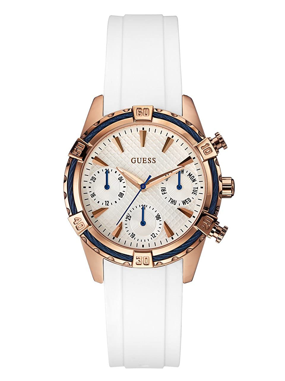 GUESS Factory Women s WhiteTone Sport Watch, NS