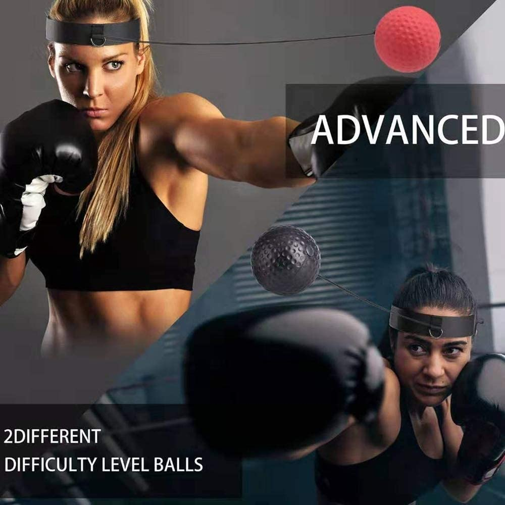 Hand-eye Coordination and Fitness Suitable for all Ages Boxing Training Ball Headband BoxingTraining Ball with Headband NetEraEU Boxing Reflex Ball Best Boxing Equipment for Training
