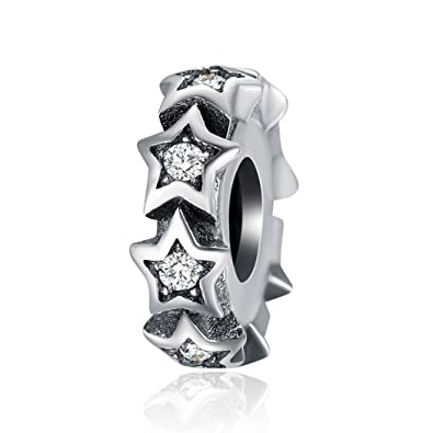 e9d5a82ca ... coupon code for lily jewelry stackable star spacer clear cz 925  sterling silver bead for pandora