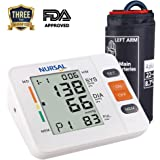 NURSAL Upper Arm Digital Blood Pressure Monitor With WHO Indicator and Large LCD Screen for 2 Users(2*90 storage), FDA Certified Automatic Electronic Blood Pressure Monitor (Bracelet 22 cm–42 cm)