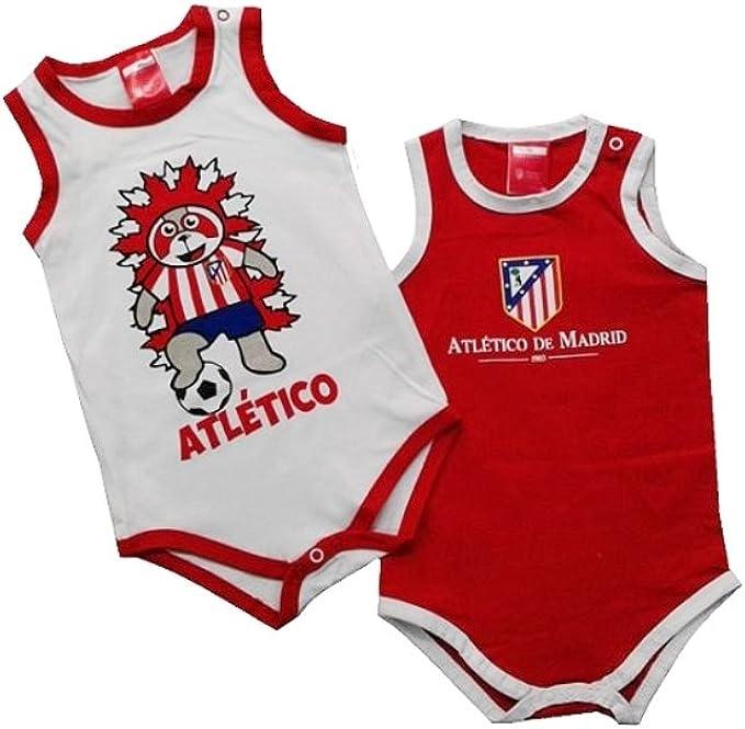 Pack 2 Bodys ATLÉTICO DE MADRID de Tirantes para Bebés (18 MESES): Amazon.es: Ropa y accesorios